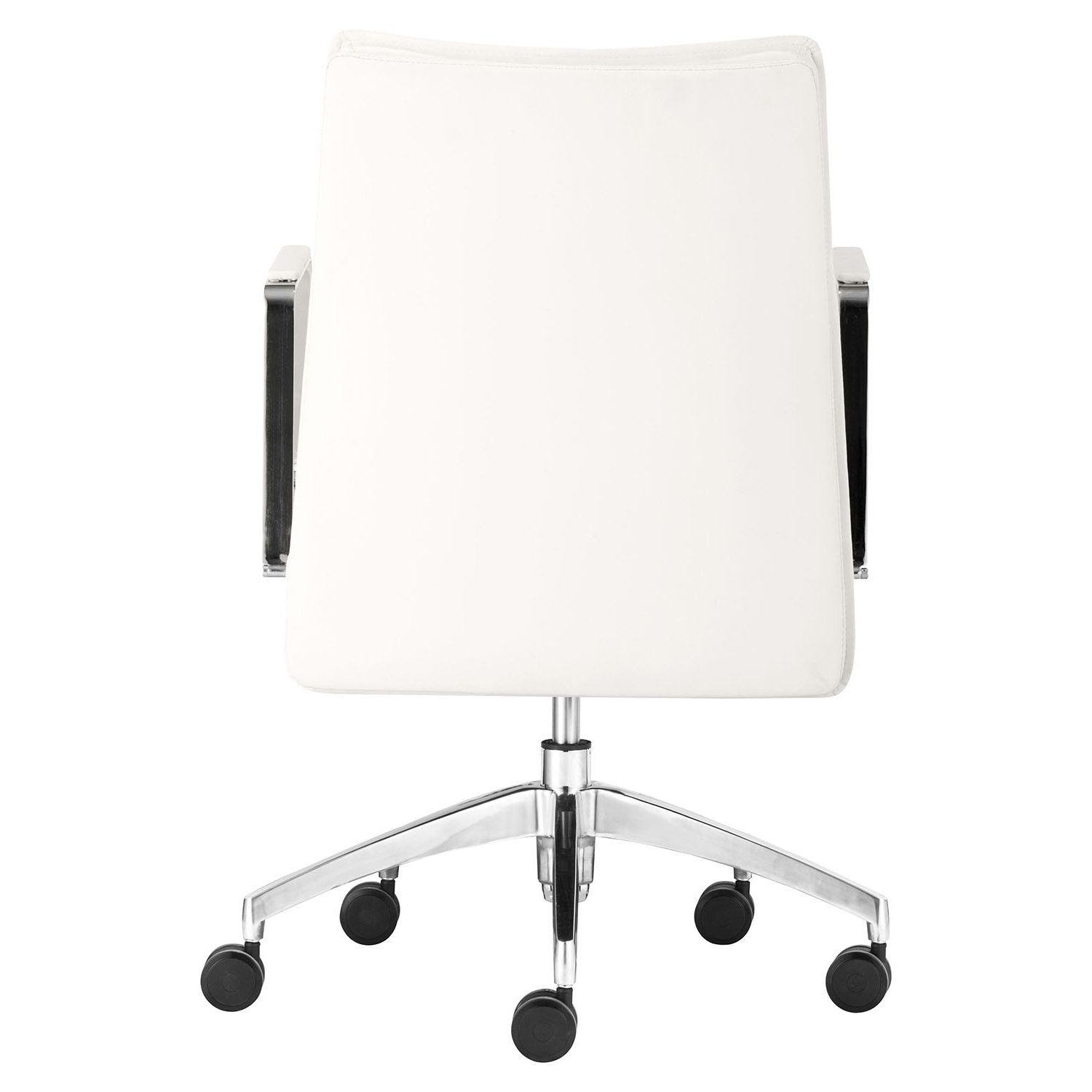 Dean Low Back Office Chair - Casters, White - ZM-206137