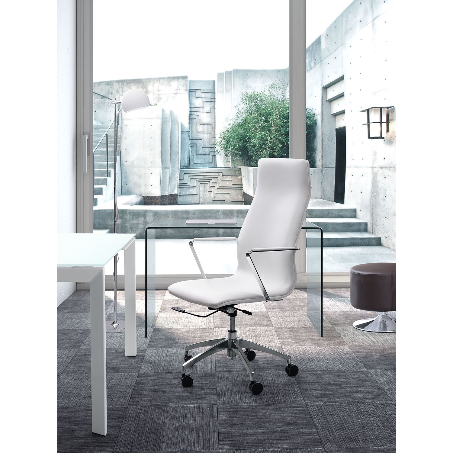 Herald High Back Office Chair - White - ZM-206147