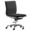 Lider Plus Armless Office Chair - Black
