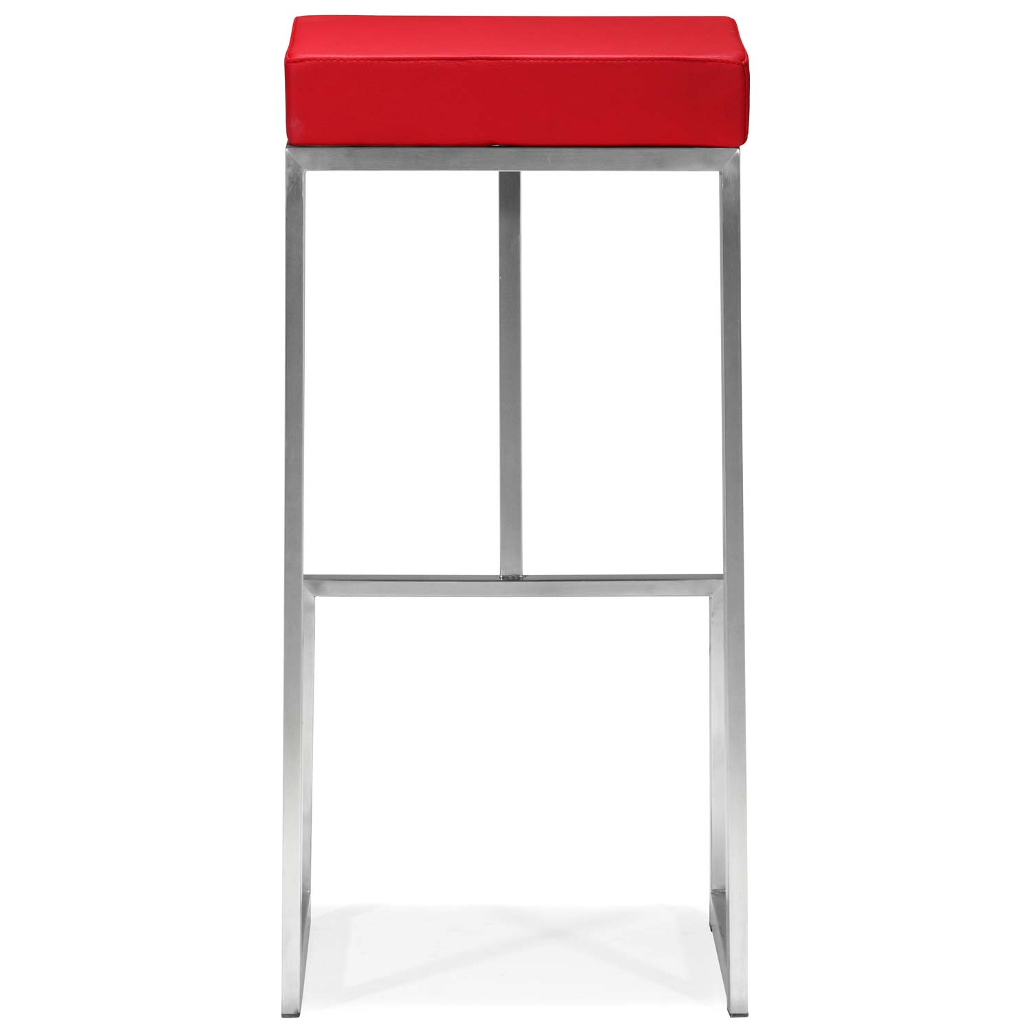 "Darwen 30"" Backless Bar Stool - Stainless Steel, Red - ZM-300047"