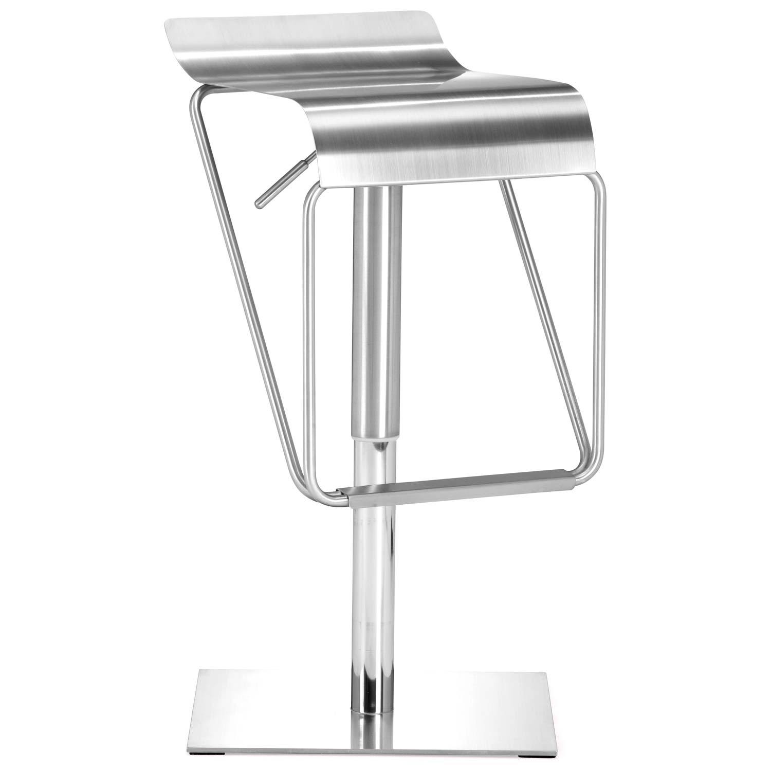Dazzer Piston Style Adjustable Bar Stool - Stainless Steel