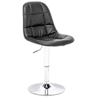 Wrap Adjustable Tufted Dining Chair - Chrome Steel, Black