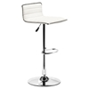 Equation White Bar Chair - Swivel, Adjustable