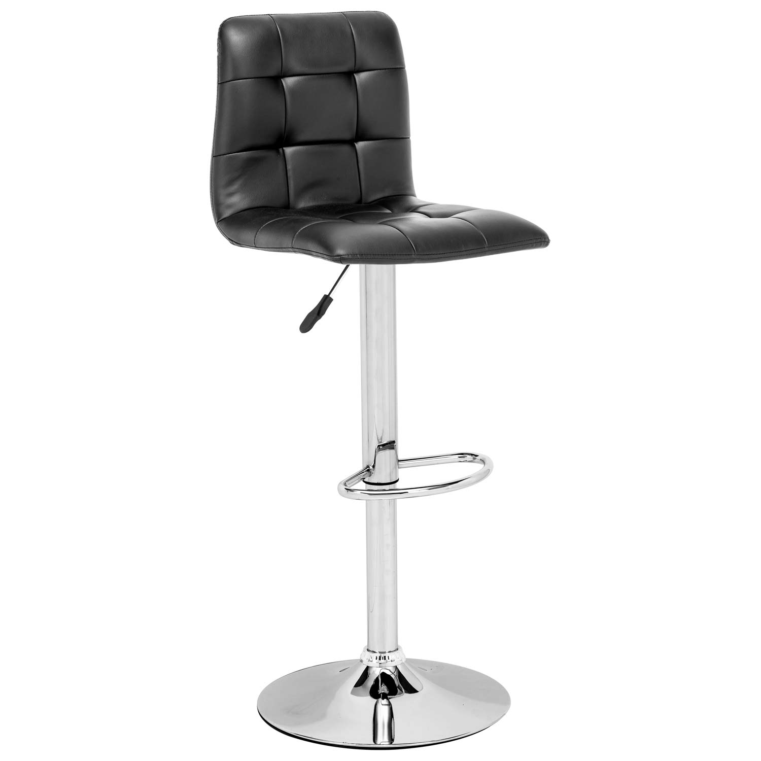 Oxygen Adjustable Swivel Barstool - Button Tufted