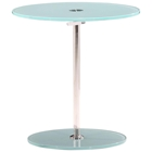 Radical Round Side Table - Chrome, Frosted Glass