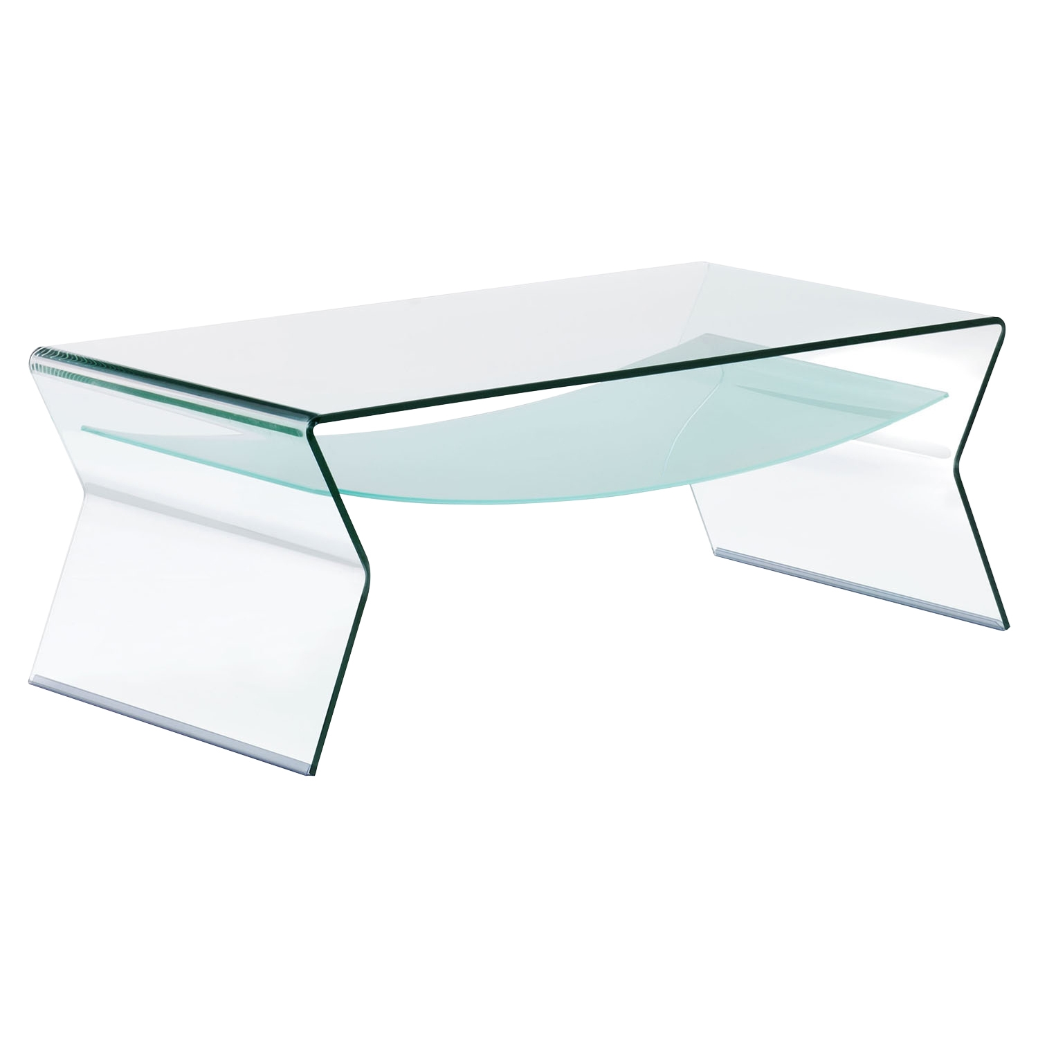 Yoga Coffee Table - Clear and Frosted - ZM-404144