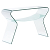 Yoga Console Table - Clear and Frosted