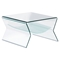 Yoga Side Table - Clear and Frosted - ZM-404146