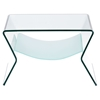 Yoga Side Table - Clear and Frosted
