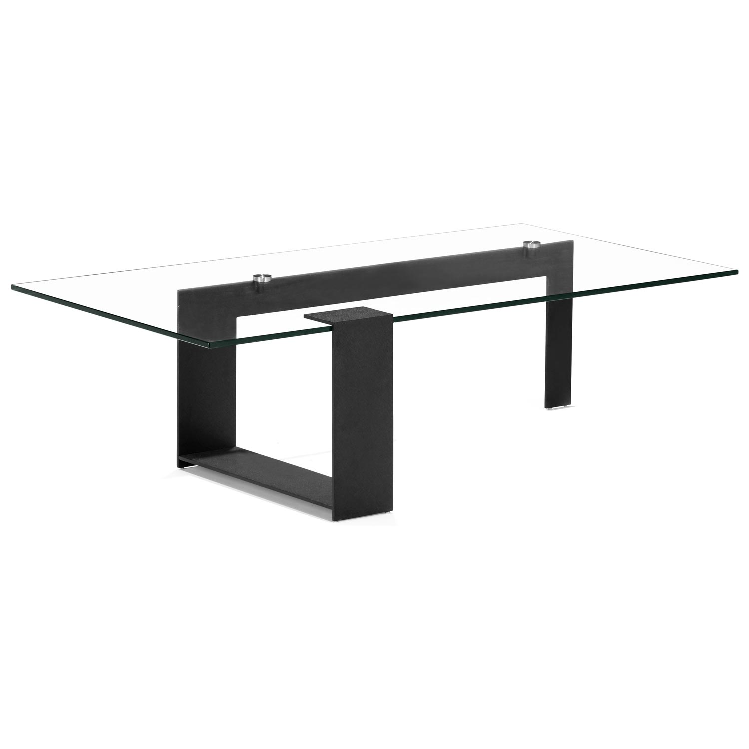 Zeon Coffee Table - Tempered Glass, Black - ZM-404195