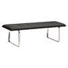 Cartierville Bench - Tufted, Black