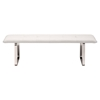 Cartierville Bench - Tufted, White