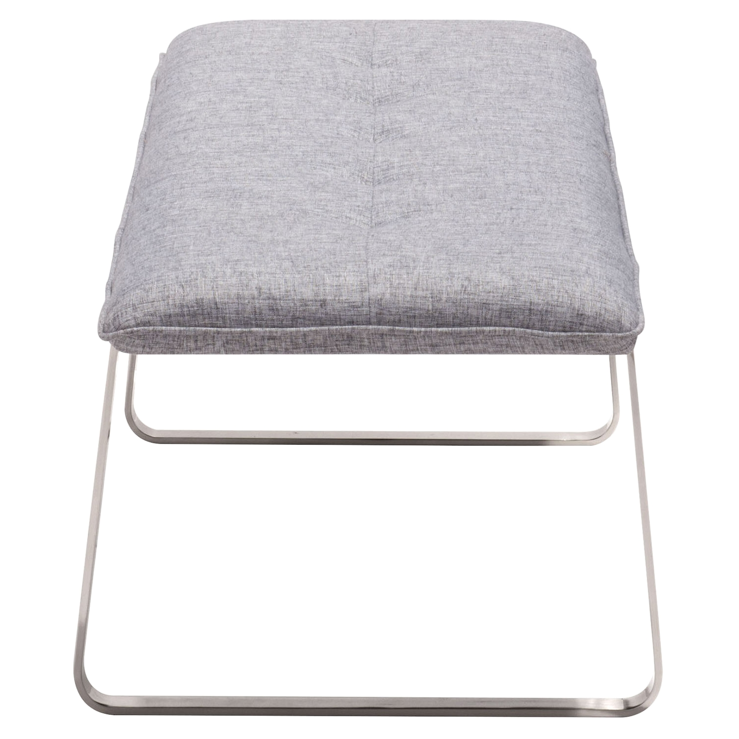 Cartierville Bench - Tufted, Gray - ZM-500187