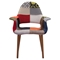 Moshe Patchwork Occasional Chair - Multicolor - ZM-500349