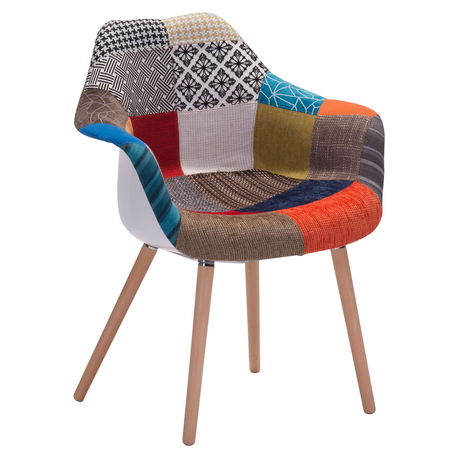Safdie Occasional Chair - Patchwork Multicolor
