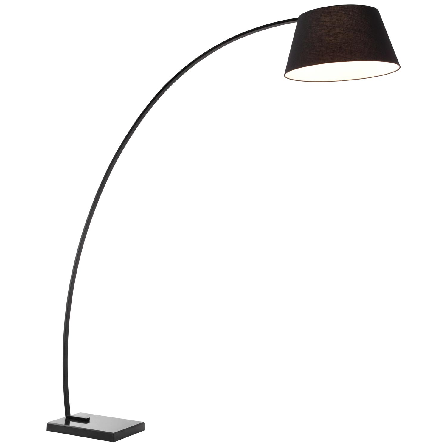 Vortex Floor Lamp - Rectangular Marble Base, Black - ZM-50074