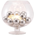 Terran Table Lamp - Clear Glass, Chrome Orbs