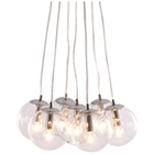 Decadence Ceiling Lamp - Clear Glass Orbs, Chrome