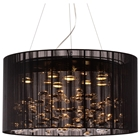 Symmetry Ceiling Lamp - Lace Fabric Shade, Black