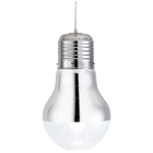 Gilese Light Bulb Ceiling Lamp - Glass Shade, Chrome