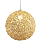 Continuity Ceiling Lamp - Paper Rope Mesh Shade, Natural