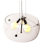 Asteroids Ceiling Lamp - Clear Glass, Chrome Metal