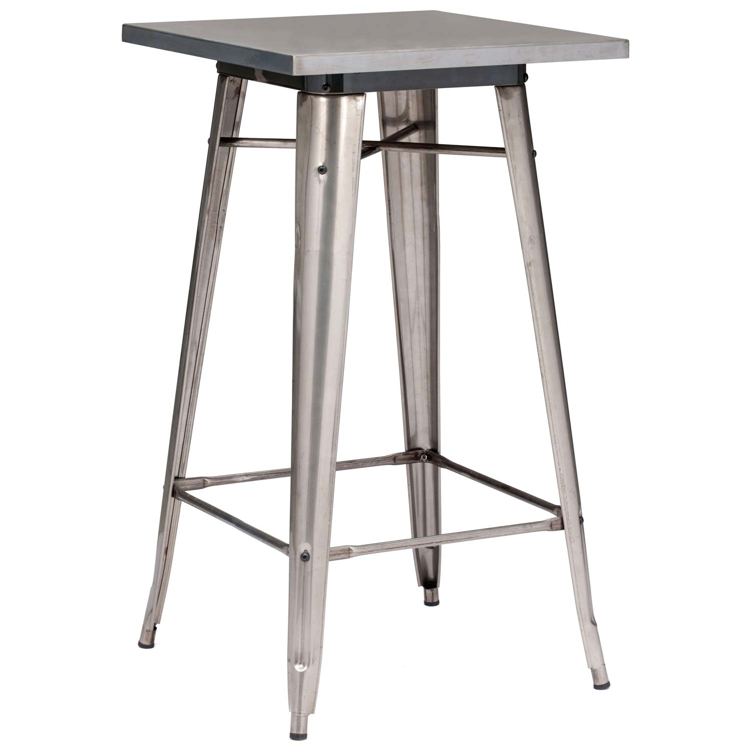 Olympia Square Bar Table - Steel, Gunmetal