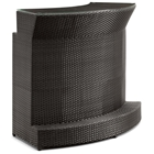 Negril Curved Outdoor Bar Table - Espresso Wicker
