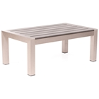 Cosmopolitan Patio Coffee Table - Brushed Aluminum, Teak