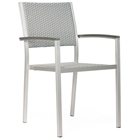 Metropolitan Outdoor Woven Armchair - Brushed Aluminum