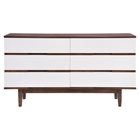 LA Double Dresser - Walnut and White
