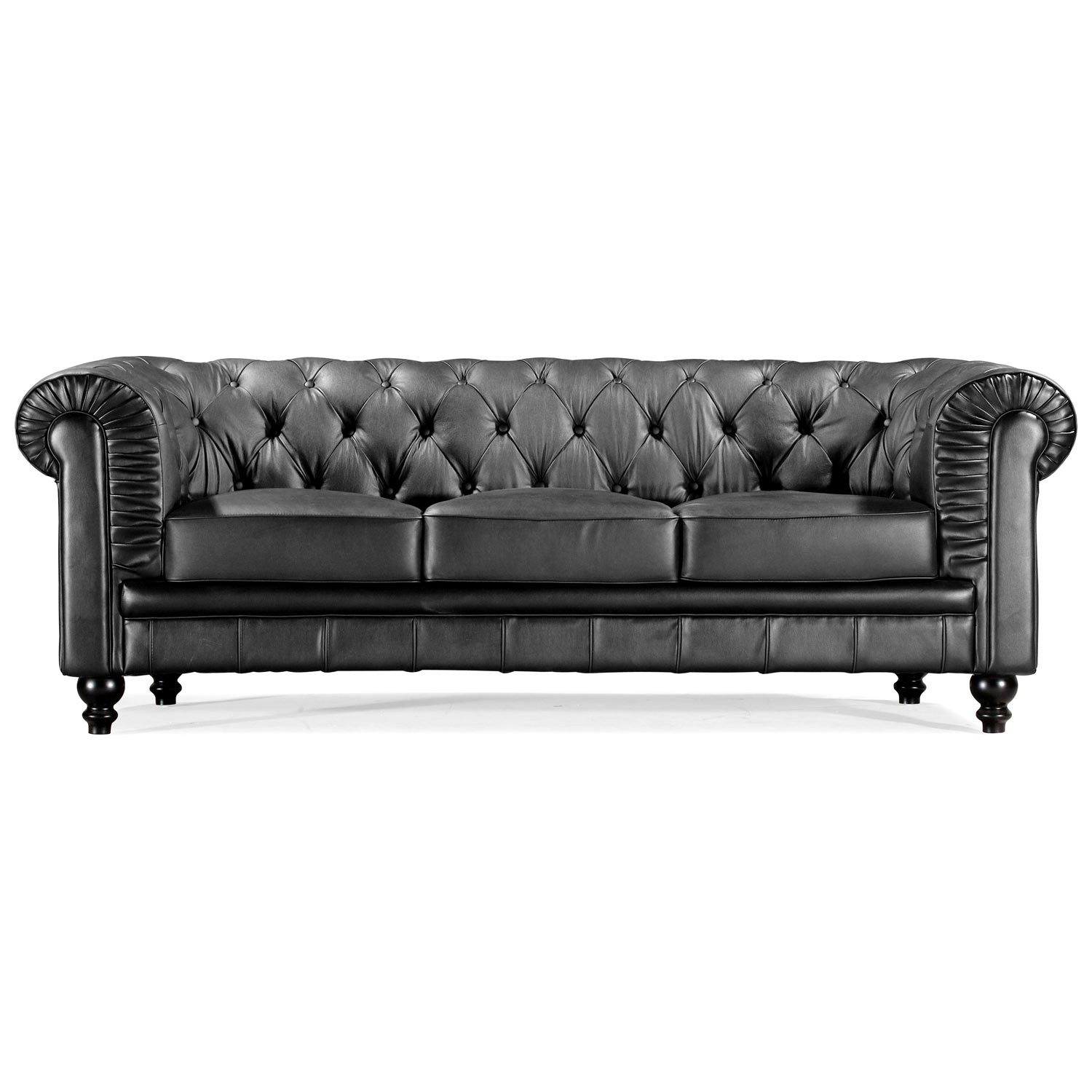 Aristocrat Classic Tufted Leather Sofa - ZM-90011X