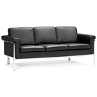 Singular Modern Sofa - Chrome Steel, Black