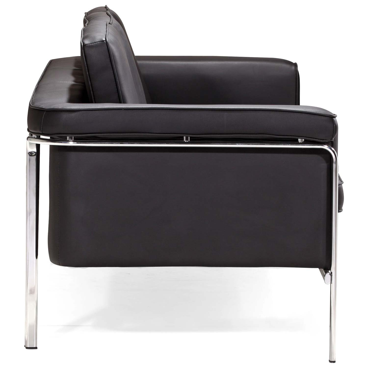 Singular Modern Sofa - Chrome Steel, Black - ZM-900166