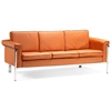 Singular Modern Sofa - Chrome Steel, Terracotta