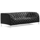 Providence Tufted Sofa - Chrome Steel, Black