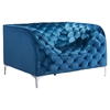 Providence Arm Chair - Tufted, Blue Velvet