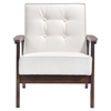 Aventura Arm Chair - Tufted, White