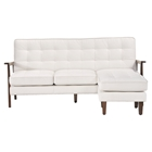 Soho Flat Flex Sectional - Tufted, White