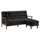 Soho Flat Flex Sectional - Tufted, Black