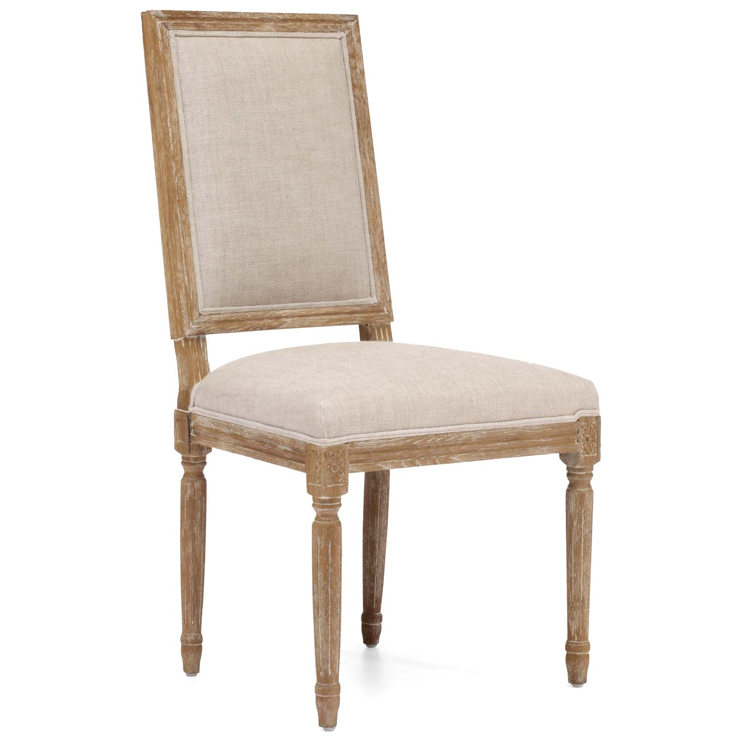Cole Valley Chair - Wood Frame, Beige Linen - ZM-98074