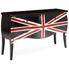 Union Jack 2-Drawer Sofa Table - Distressed Black