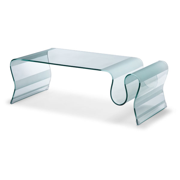 DISCOvery Free Flowing Glass Coffee Table - ZM-404102-DISCOVER