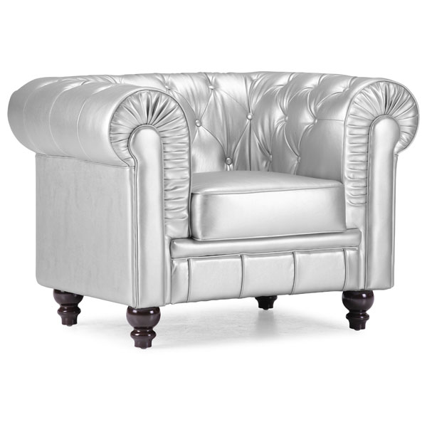 Aristocrat Tufted Armchair - Silver