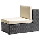 Cartagena Modular Middle Outdoor Chair - Espresso and Tan