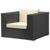 Cartagena Modular Outdoor Armchair - Espresso and Tan
