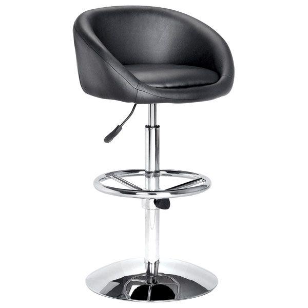Concert Swivel Bar Stool in Black - ZM-300010