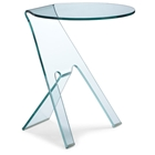 Journey Clear Side Table
