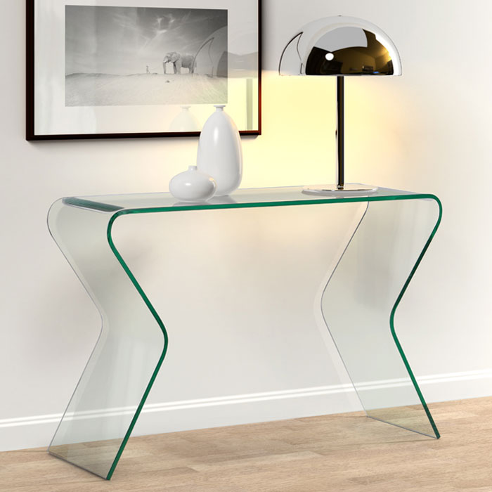 Respite Glass Console Table - ZM-404130