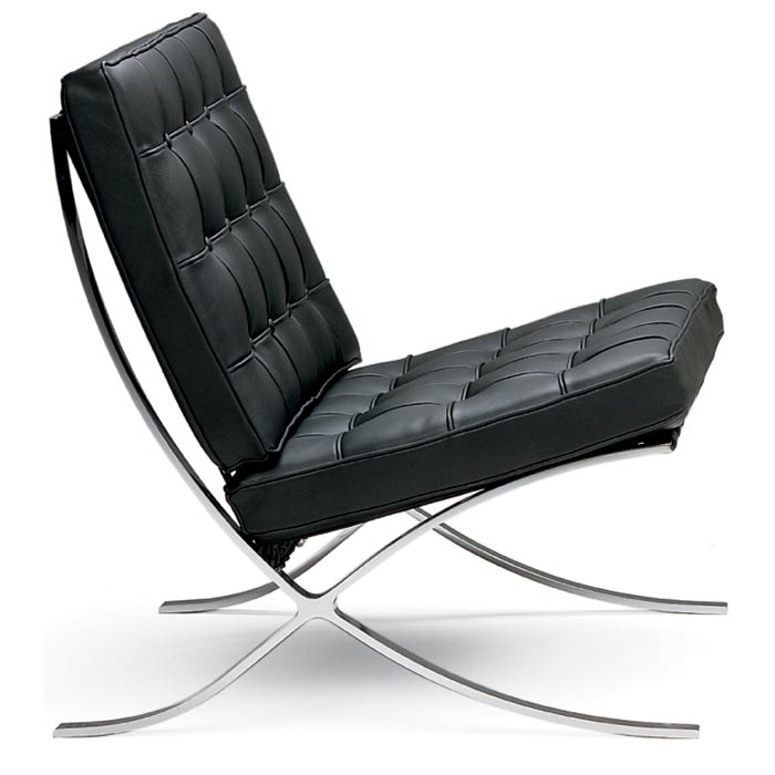 Mies van der Rohe Pavilion Chair - Made in Italy mies chair, barcelona chair, mies van der rohe chair, pavilion, exposition, alphaville design, barcelona reproduction